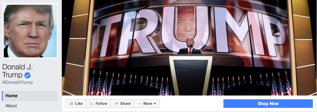 Trump's Facebook Page Cover Photo