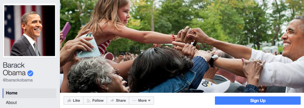 Obama's Facebook Page Cover Photo