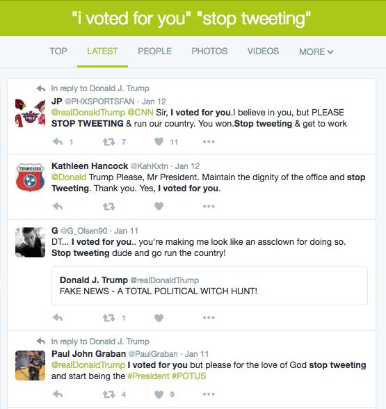 Stop Tweeting Trump