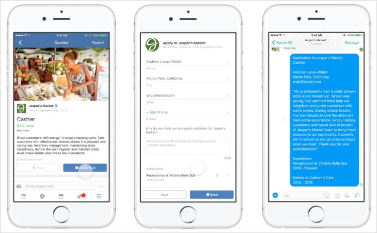 What's New In Social Media: Facebook Job Listings