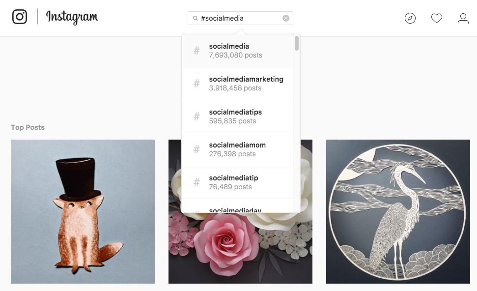Social Media - Instagram, Follow the #hashtag
