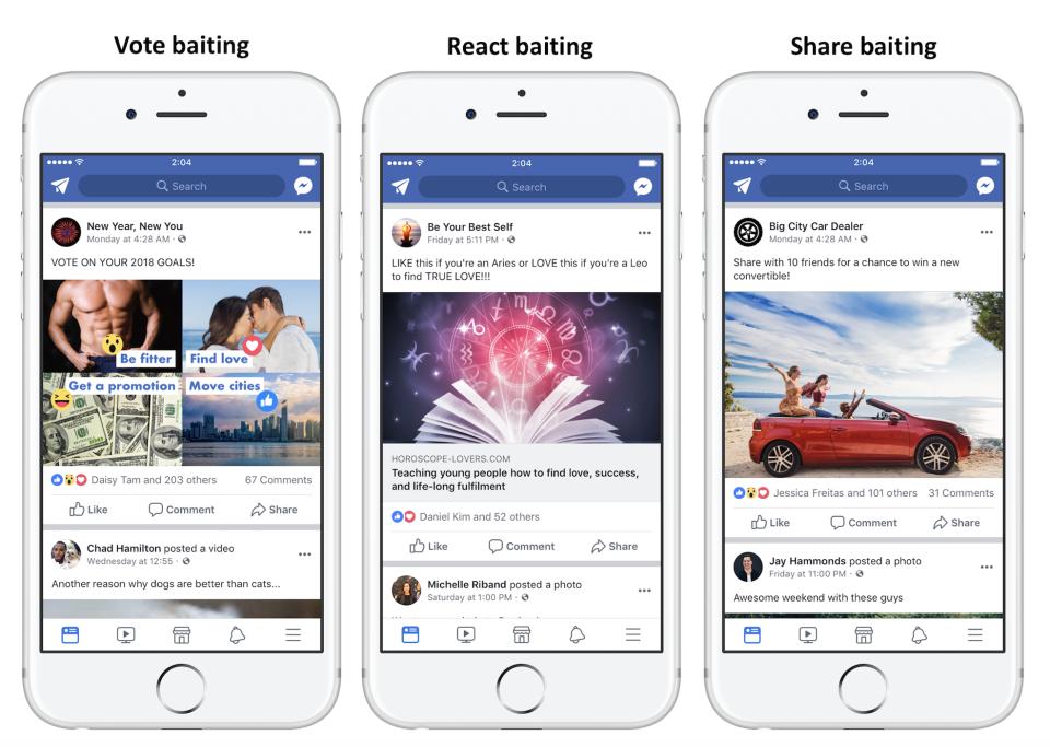 Social Media Facebook Fights Click Bait
