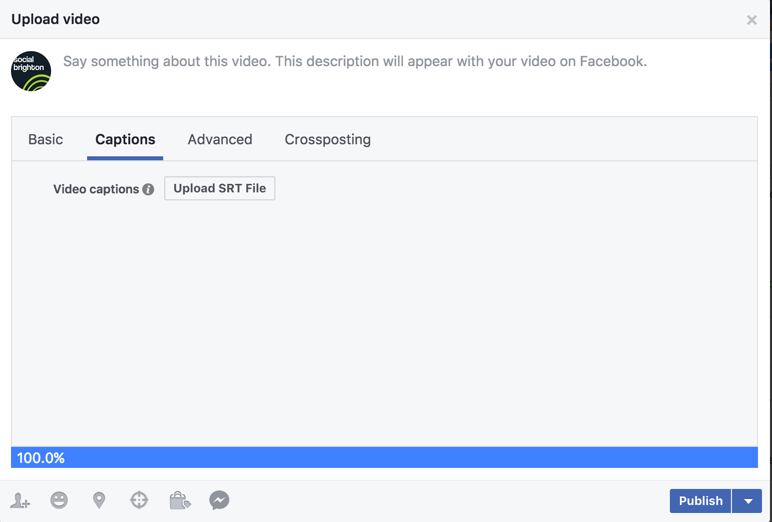 How to add captions to Facebook videos - Social Brighton