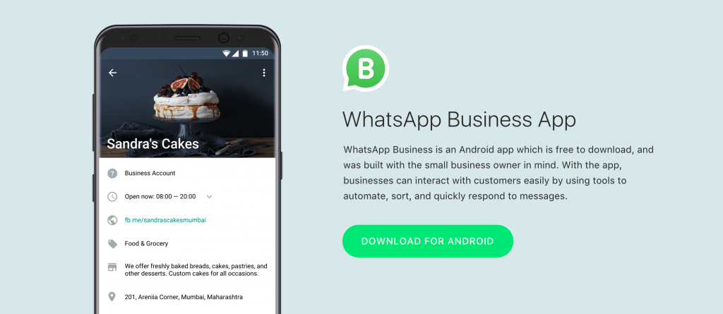 Social Media - WhatsApp For Business launches