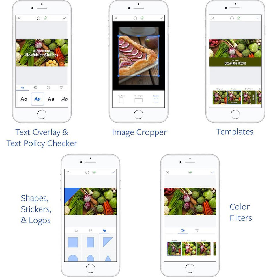 Facebook Mobile Ad app new creative tools
