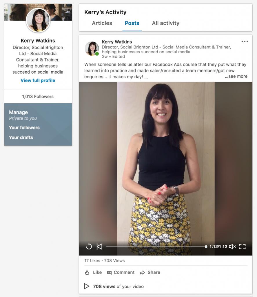 Improving my LinkedIn