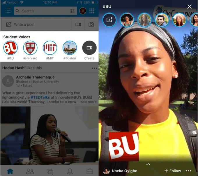 LinkedIn launches Student Voices Stories format