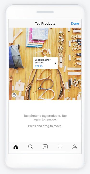 Instagram Shoppable Tags