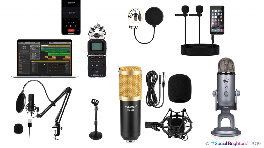 Podcasting recording and editing kit