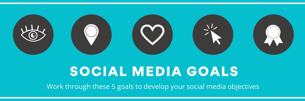 5 social media goals